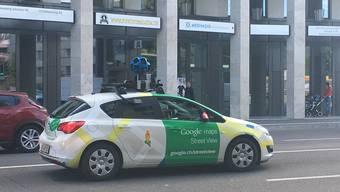 So fuhr das Google-Street-View-Auto am Dienstagmorgen um 08.27 Uhr durch die Heimstrasse im Dietiker Limmatfeld.