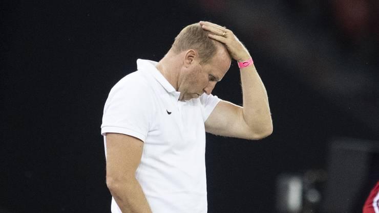 Ratlos: Ludovic Magnin ist als Trainer des FC Zürich gescheitert.