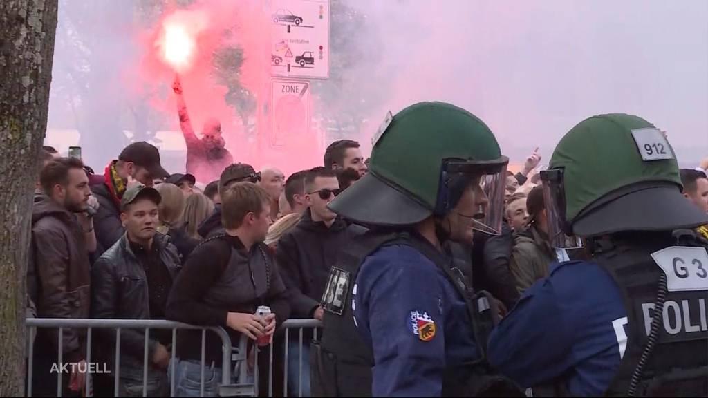 Feyenoord-Rotterdam-Anhänger wüten in Bern
