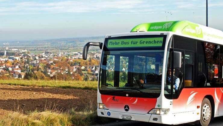 Mehr Bus für Grenchen: Kleine Änderungen im Fahrplan sorgen für bessere Anschlüsse ans Zugnetz. Foto: zvg