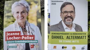 Die Wahlplakate: Jeanne Locher-Polier setzt sich gegen Daniel Altermatt durch.