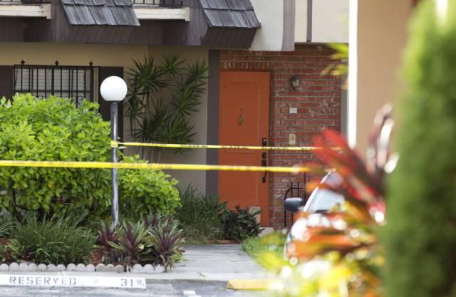 Die Polizei hat den Tatort in Miami abgesperrt