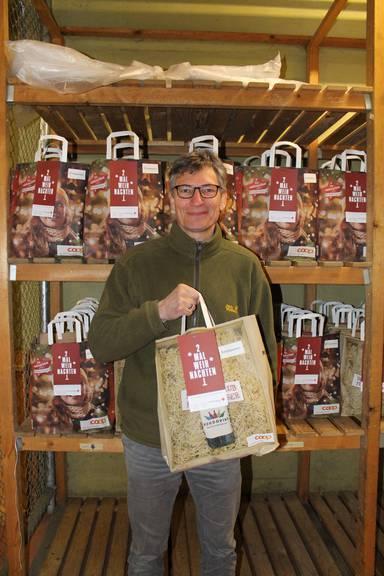 Alberto Baumeler, Koordinator des Projekts «2x Weihnachten» (Bild: FM1Today/Laurien Gschwend)
