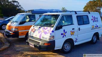 Nach politischer Einstellung wird nicht gefragt, sondern nach den Kreditkartendaten: Hippie-Camper an der Ostküste Australiens.ZVG