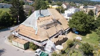 Bilder von der Sanierung des Dorfmuseums Kölliken.