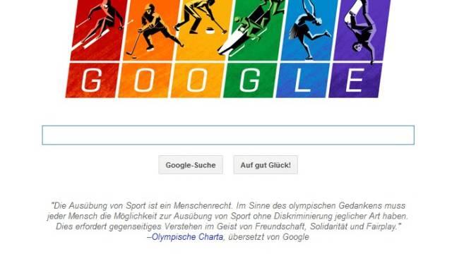 Putin dürfte wenig Freude am Google-Logo haben (Screenshot Google)