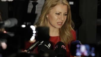 Gilt laut Umfragen als Favoritin für die Präsidentenwahl in der Slowakei: die liberale Bürgeranwältin Zuzana Caputova.