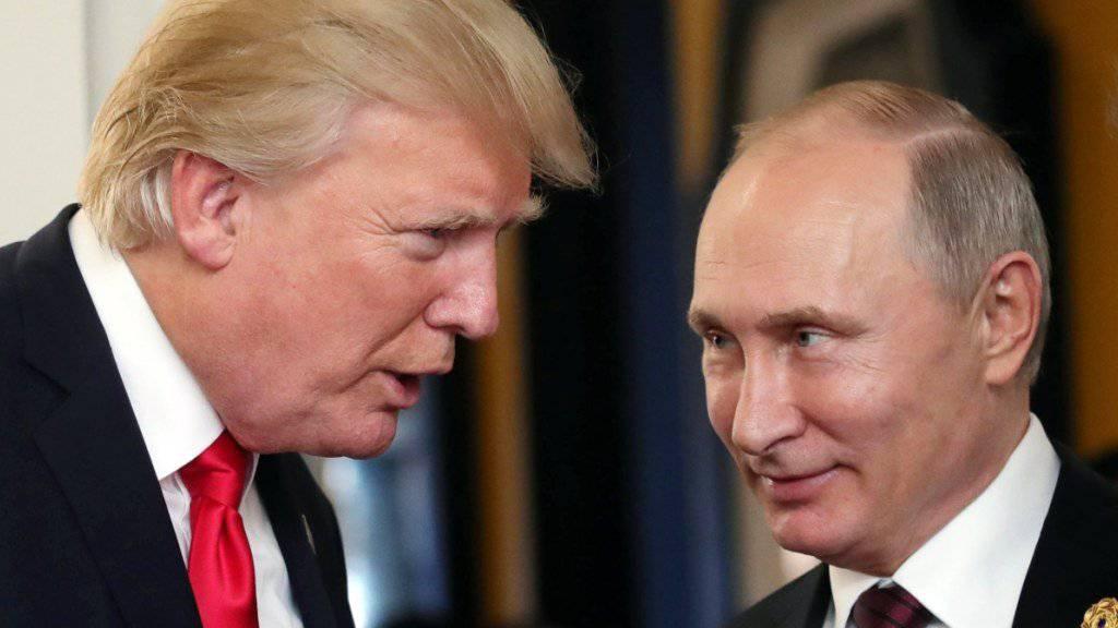 Der mit Spannung erwartete Gipfel zwischen US-Präsident Donald Trump und dem russischen Staatschef Wladimir Putin findet am 16. Juli in der finnischen Hauptstadt Helsinki statt. (Archivbild)