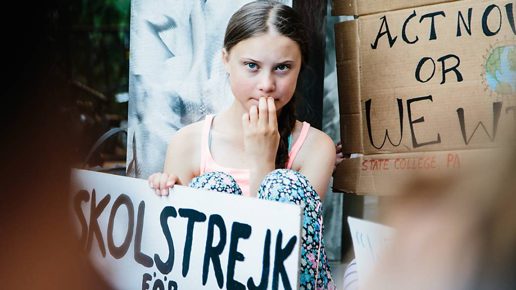 Die Politik soll mehr gegen den Klimawandel tun: die schwedische Klimaschutzaktivistin und Schülerin Greta Thunberg. (Archivbild)