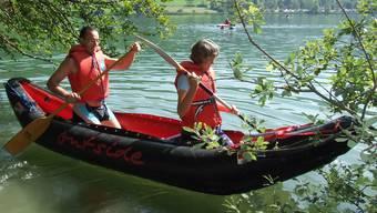 Eine der Hauptattraktionen war am Samstagmorgen das Kanu- und Kajakfahren auf dem Türlersee.