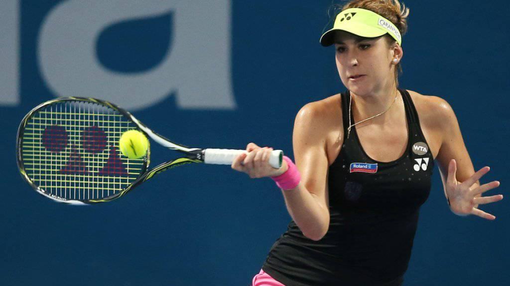 Starker Start und harter Kampf am Ende: Belinda Bencic setzte sich in Sydney in drei Sätzen gegen Jekaterina Makarowa durch