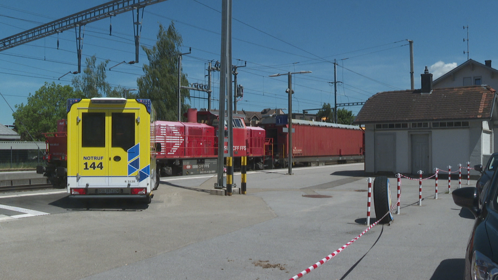 Beim Bahnhof Winkeln ereignete sich am Sonntagmittag ein Unfall.