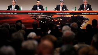 v.l. Herbert Bächler, Kurt Ledermann, Daniel Hirschi und CEO Alexander Hagemann.