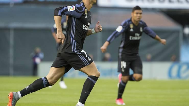 Cristiano Ronaldo machte auch gegen Celta Vigo den Unterschied und erzielte zwei Tore für Real Madrid