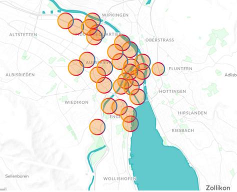 Wer sich in Zürich an oder um eine Velostation befand und auf dem Smartphone eine von über 20 Schweizer Nachrichten-Apps öffnete, erhielt Werbung der Zürcher Kantonalbank aufgespielt.