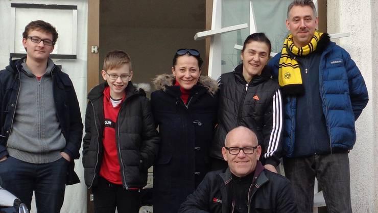 Das Team von «Help Now»: Sandro Covo, Nikola Dietrich, Barbara Barić, Christian Oberholzer, Anela Dedić (unterstützte die Aargauer Helfer vor Ort) und Stefan Dietrich.