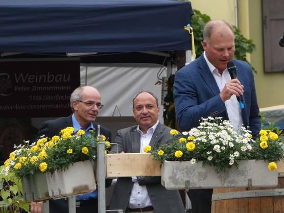 Stefan Käser bei seiner Ansprache.