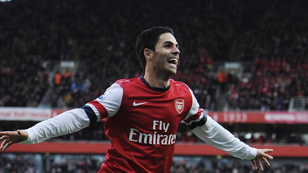 Mikel Arteta spielte einst für Arsenal. Nun wird der Spanier Cheftrainer beim Premier-League-Klub aus London