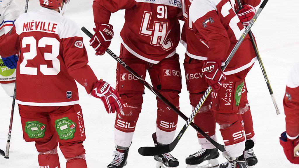 Der Lausanne HC schiesst sich gegen Kloten mit neun Toren aus der Krise