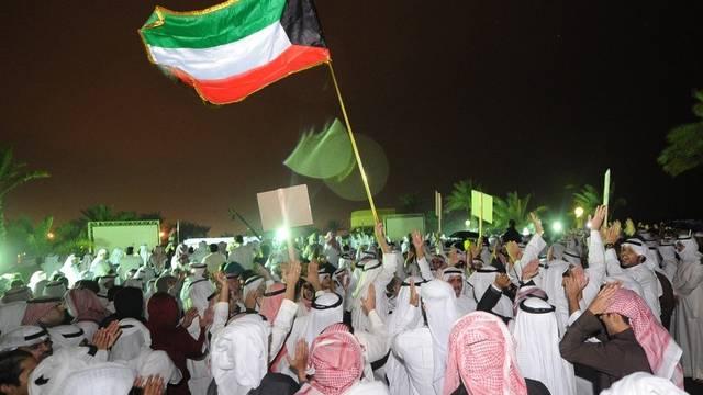Demonstration in Kuwait Stadt