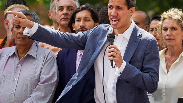 Ruft offen zum Massenprotest gegen Staatschef Nicolas Maduro auf: Venezuelas Parlamentspräsident Juan Guaidó. (Archivbild)