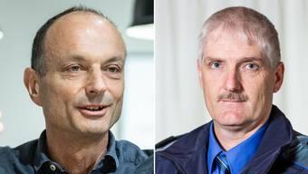 Der Suhrer Gemeindepräsident Marco Genoni (links) und Thomas Zbinden, Chef der Repol Suret.