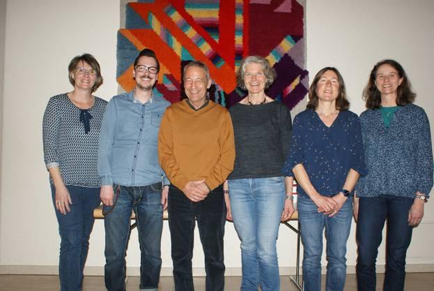 Der Vorstand des NVVO von links nach rechts: Elisabeth Krack, Patrick Hüsser, Ernst Hofmann, Katharina Eppenberger, Lilo Steiner und Denise Wunderlin