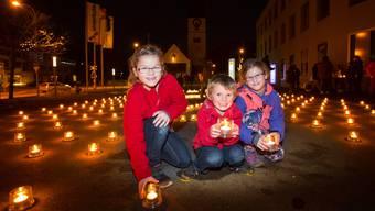 Caritas-Aktion «Eine Million Sterne» in Unterkulm