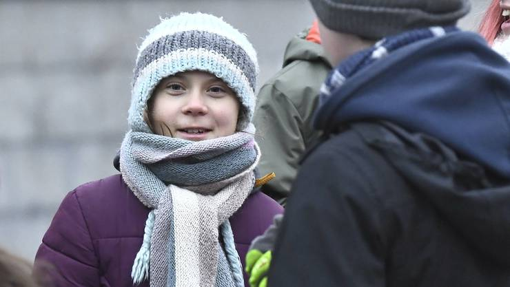 "Greta Thunberg beim Klimastreik ""Fridays for Futur"" in Stockholm."
