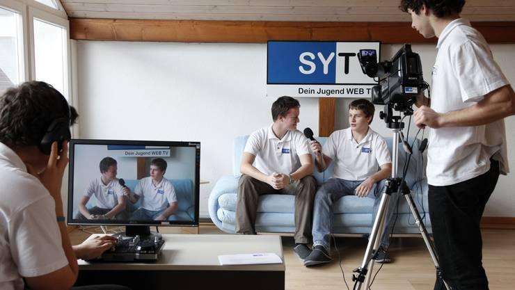 Junge Filmemacher im Schuss. (Fotos: Hanspeter Bärtschi)