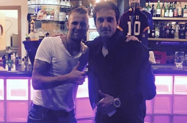 Carlo Polli mit seinem Jugendfreund Mario Gavranovic.
