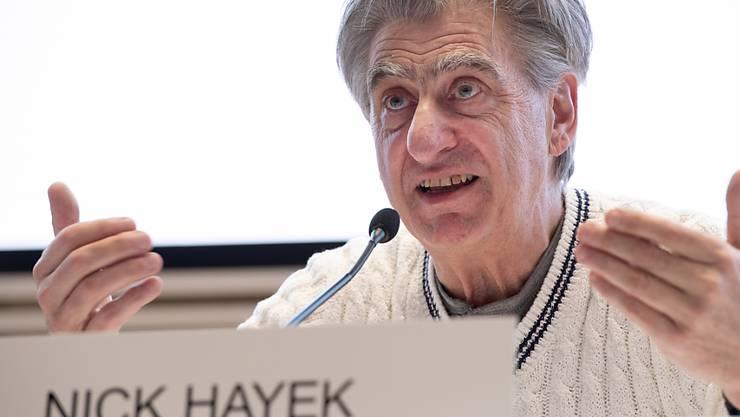 """Swatch-Chef Nick Hayek spricht sich im Uhrwerke-Streit mit der Weko für Lieferobergrenzen aus, falls das eine Lösung beschleunigt: """"Aber dieser Entscheid darf nicht erst im nächsten Sommer fallen, sondern muss jetzt rasch getroffen werden."""" (Archiv)"""