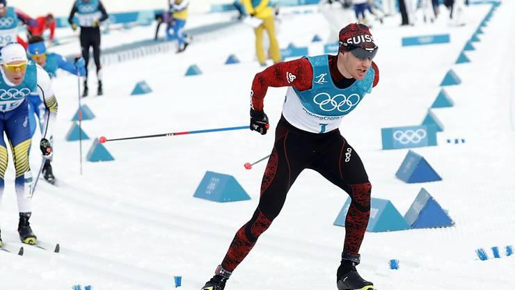 Dario Cologna konnte über 50 km nicht in den Kampf um die Medaillen eingreifen