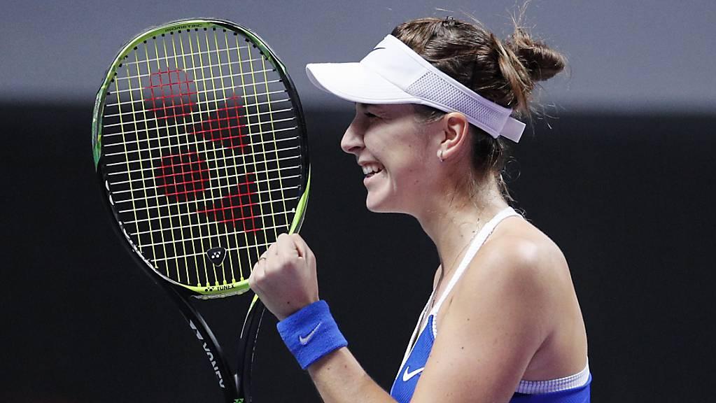 Belinda Bencic bleibt in Shenzhen im Titelrennen