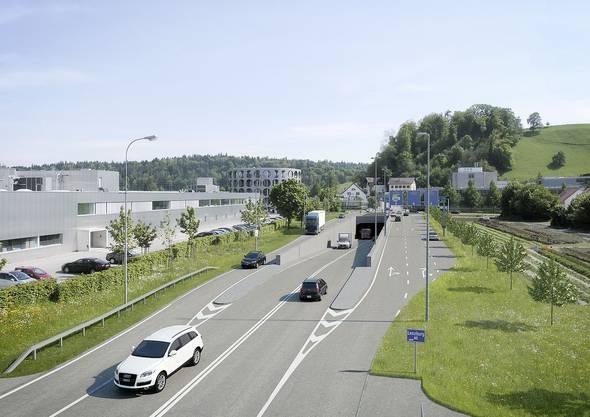 A1-Zubringer Lenzburg: Projektstand: Auflage abgeschlossen, eine Privateinsprache hängig, Baustart vorgesehen: 2016, Baustart tatsächlich: nicht vor Mitte 2017, Kosten: 75,35 Millionen Franken