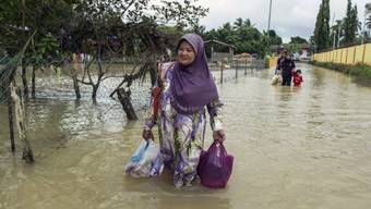 Hochwasser etwa 400 Kilometer nördlich von Kuala Lumpur in Malaysia