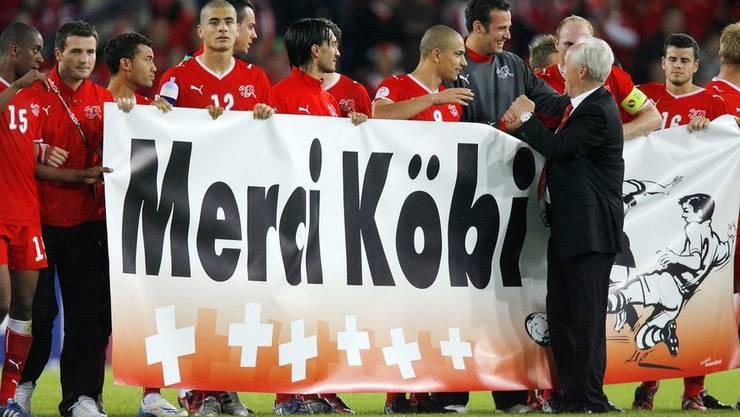 Die Spieler sagen es 2008 nach der EM, die Fussballschweiz spätestens jetzt: Merci Köbi.