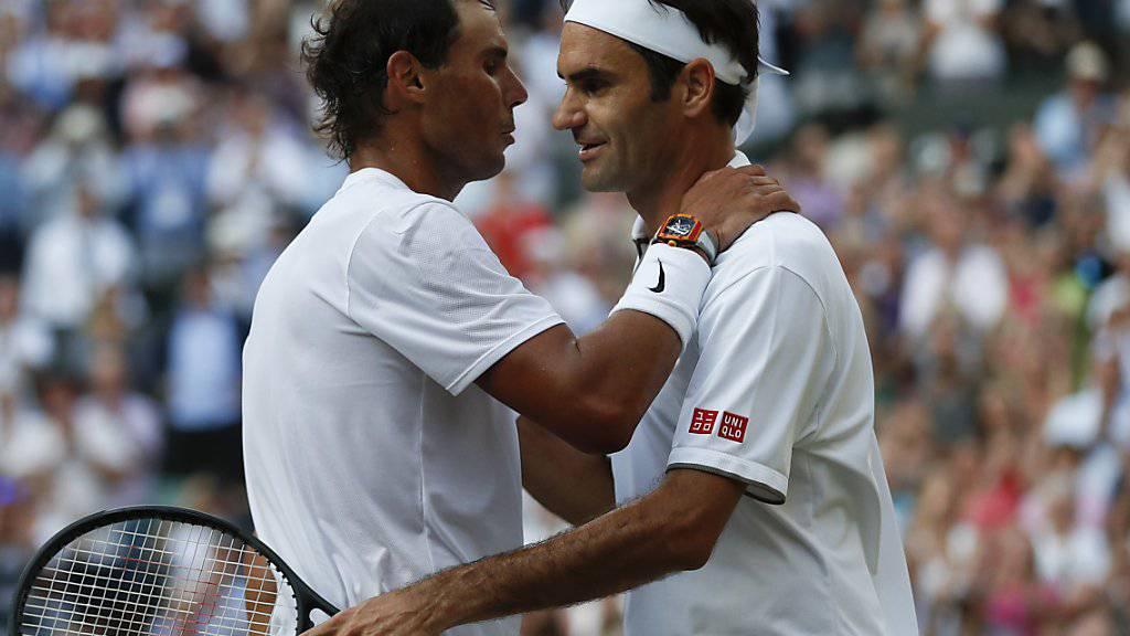 In Wimbledon noch erbitterte Gegner, wollen Roger Federer (re.) und Rafael Nadal im ATP-Spielerrat wieder zusammenarbeiten