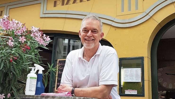 Andy Neaves vom Rheinfelder Restaurant Rhein-Mühle.