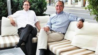 Verspüren keine Leere nach dem Stadtfest: Adi Hirzel (l.) und Marc Périllard. Christoph Voellmy
