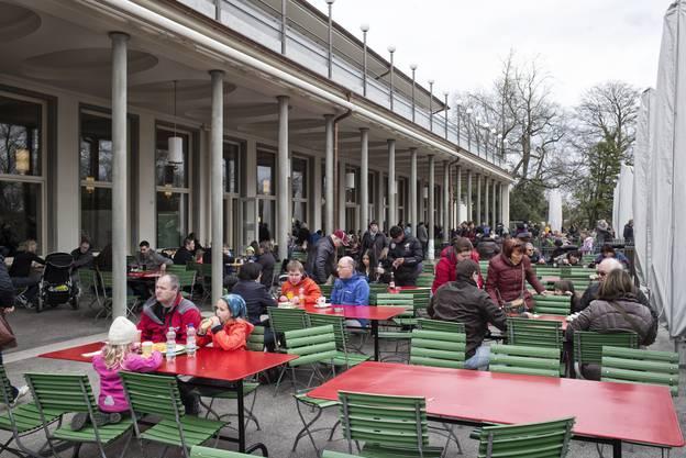 Auch die Terrasse des Restaurants wurde gebührend eingeweiht.