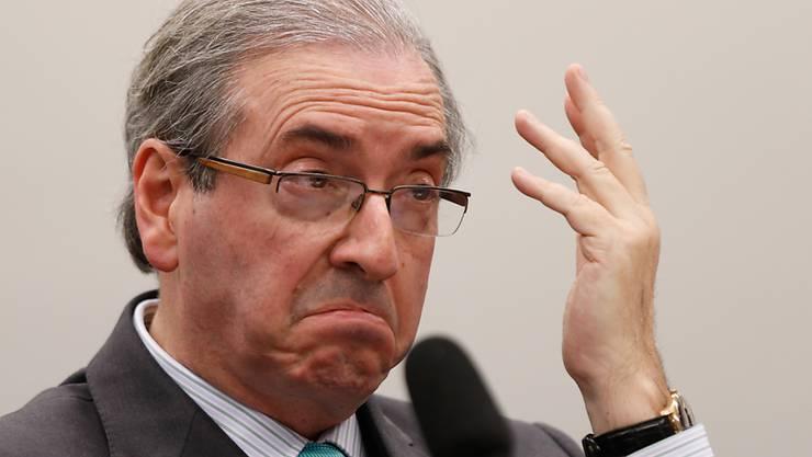 Soll Schmiergeld angenommen haben: Brasiliens Parlamentschef Eduardo Cunha angeklagt