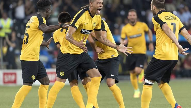 Grosser Jubel: Die Young Boys qualifizierten sich für die Champions-League-Playoffs