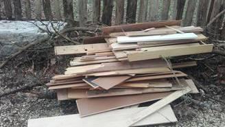 Das Holz wurde bei der Waldhütte und der sogenannten Waldgarage entsorgt.