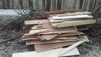 Holz in Klingnau illegal entsorgt