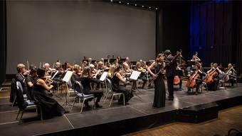 Die Brugger Fagottistin Valeria Curti beim Einstiegskonzert des Dirigenten Roman Blum mit der Sinfonia Baden.