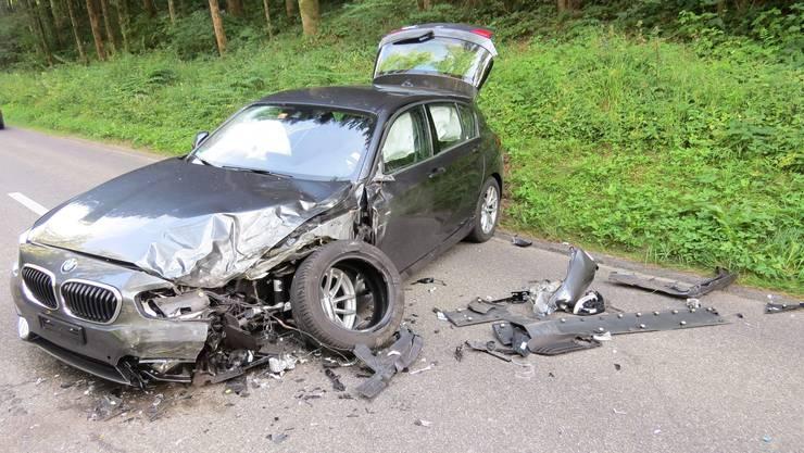 Am BMW entstand beim Unfall Totalschaden.