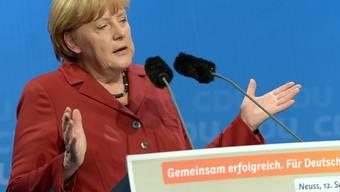 Angela Merkel: Vorlesung zum Thema Deutschland. KEYstone