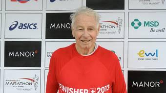 2013 absolvierte Albert Stricker den Luzern Marathon.