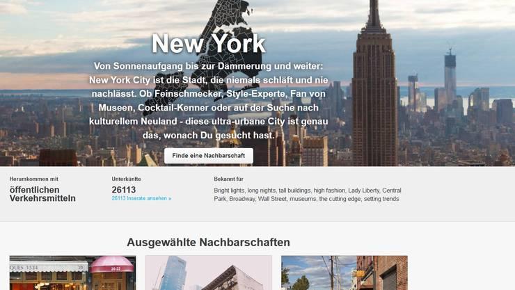 Auf Airbnb werden Unterkünfte in 33 000 Städten und 192 Ländern angeboten.